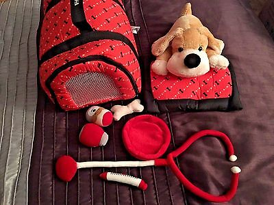 F.A.O. Toy Dog Carrier with Ganz Bull Dog  and Accessories!