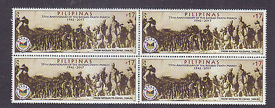 Philippines Stamps 2017 MNH WWII Bataan Death March 75th Anniversary B/4