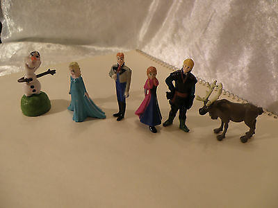 "Disney Frozen Lot Of 6 Mini 2"" Play Figures Or Cake Toppers Nice See Pictures"