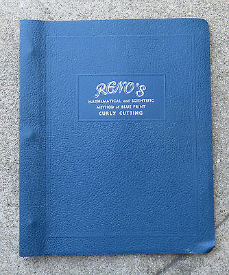 Vintage 1945 Original  Reno's Curly Cutting Hairstyle Book Hair Do Hollywood