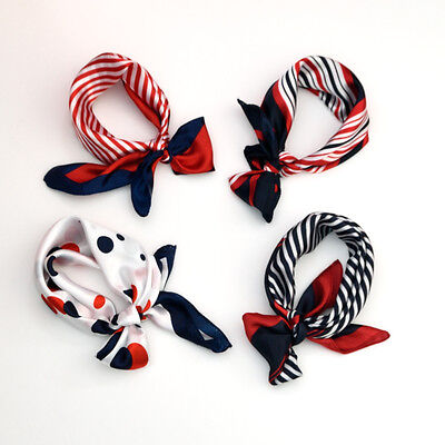 Fashion Ladies Square Satin Scarf - 4th of July