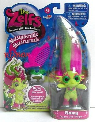 The Zelfs Maquerade FLAMY Troll Doll with Comb and Tiara New Sealed NISP