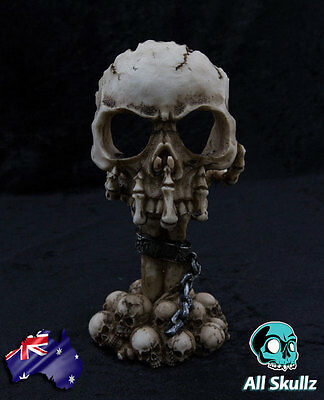 """""""Deliberation""""  Skull Themed Tealight Candle Holder with Tealight Candle"""