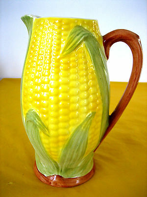 "VINTAGE SHORTER&SON 3D HAND PAINTED ""CORN"" LARGE JUG c.1993   (0.9/462)"