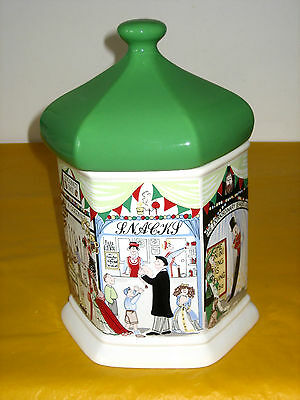 RETRO WADE GOOSE FAIR LARGE BUSCUIT JAR/BARREL small flaw in pottery (1.9/448)