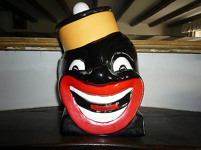"""Black Americana Rare Cookie Jar """"The Bell Captain"""" by MC/ME"""