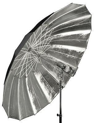 "Flash Umbrella Silver/Black Parabolic Type 59/64"" 150/162cm (diameter/arc)"