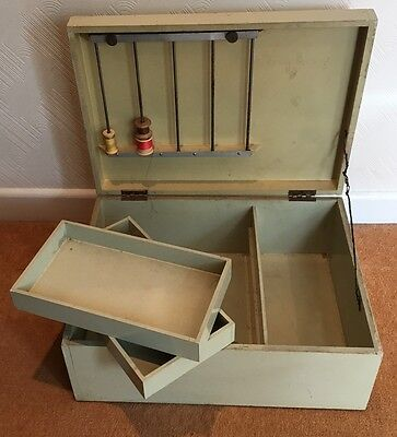 Vintage painted table top sewing box (ref 17.6.014)