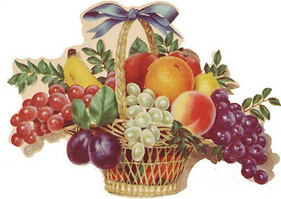 XL RePrO FRuiT BasKeTs ShaBby WaTerSLiDe DeCALs ~FuRNiTuRe SiZe~