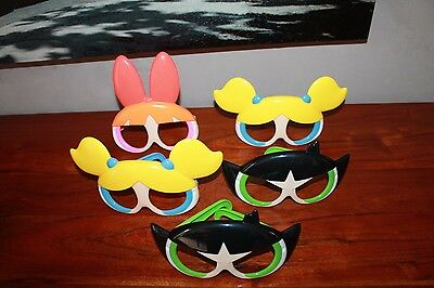 Lot de 5 LUNETTES MASQUES plastique ENFANT super nanas Happy Meal Mac Do #AFVT
