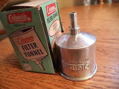 Vintage Coleman Filter Funnel No.0 New Old Stock With Box