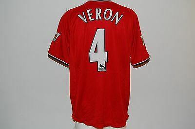 Veron  Maglia Manchester United  Home Official Calcio Jersey Shirt 2001-2002
