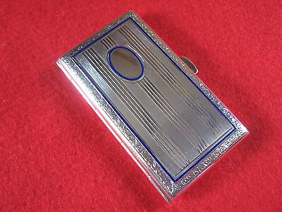1920's WONDERFUL & PETITE LITTLE 900 SILVER & ENAMEL CARD/CIGARETTE CASE.SUPERB.