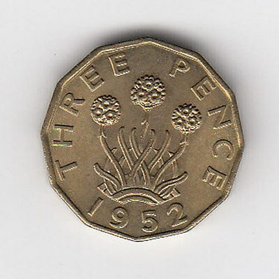 1952 King George V Threepence - Nice Condition!