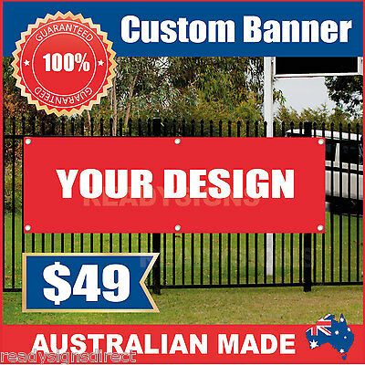 Custom Outdoor Vinyl Banner Sign - 1500mm x 700mm - Australian Made