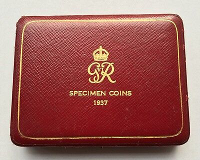 1937 Royal Mint King George VI 4 Coin Gold Proof Sovereign Set Case - NO COINS