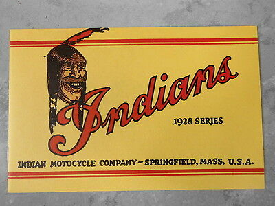 INDIANS PROSPEKT 1928 SERIES USA PRINCE SCOUT 37 45 Oldtimer Chief INDIAN