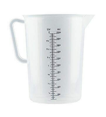 NEW PLASTIC POLYPROPYLENE MEASURING JUGS Measure Jug 5 SIZES