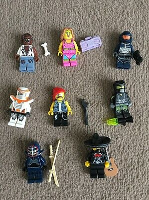 Lego minifigures Series X 8  Job Lot ( No Stands ) All Retired