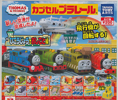 Thomas Capsule Plarail Working in the Airport Full Complete Set (17+1)
