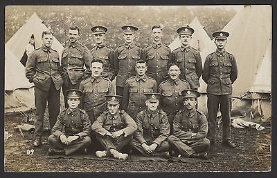 Royal Engineers Formal Group Photograph in Camp Somewhere Unknown Photo Postcard