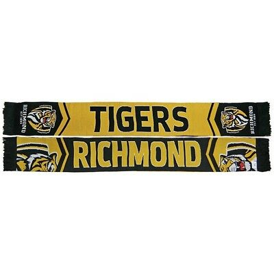 Richmond Tigers AFL Footy Cleave Jacquard Reversible Scarf