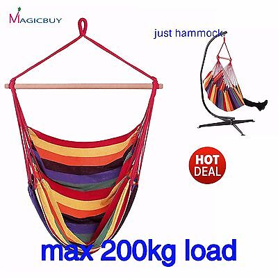 Garden Hanging Hammock Chair Swing Porch Outdoor Patio Stand Up To 200kg load
