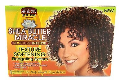 African Pride Shea butter Miracle Texture Softening Elongating System Kit