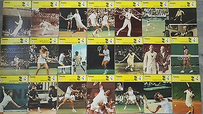1977-80 Finnish Tennis Sportscaster card lot 117 cards(McEnroe,Borg,Connors)