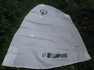 Optimist Club Racing Sail W / Class Insignias, Window, Batten & Yarn /