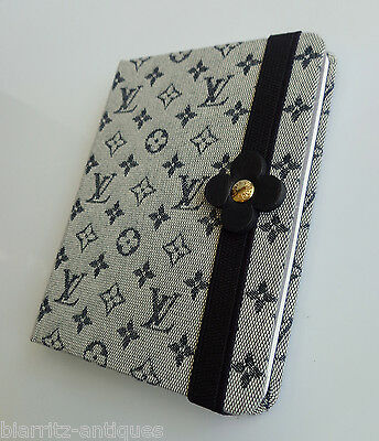 Louis Vuitton - Etat Neuf - Carnet De Notes En Toile Chinee Marine A Monogram