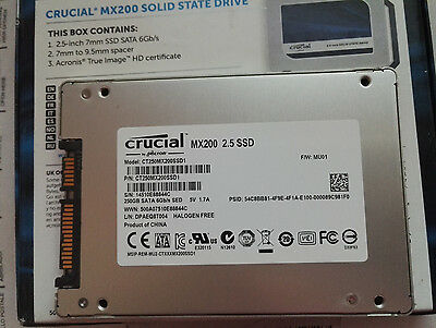 Crucial MX200 SSD 250GB CT250MX200SSD1 Comme neuf