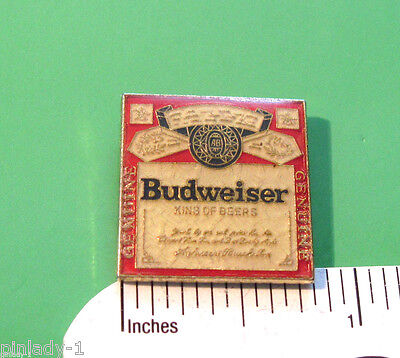 BUDWEISER King of Beers - hat pin , lapel pin , badge , hatpin GIFT BOXED
