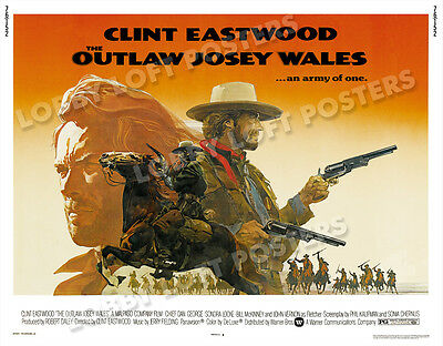 The Outlaw Josey Wales Lobby Card Poster Hs 1976 Clint Eastwood
