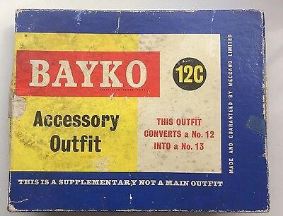 Bayko 12c Accessory Outfit Set 1960s Construction Toy Parts Pieces Boxed