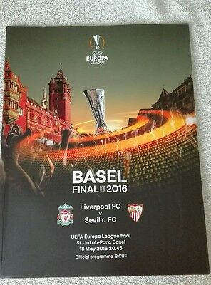 2016 EUROPA LEAGUE FINAL LIVERPOOL v SEVILLA OFFICIAL MINT PROGRAMME