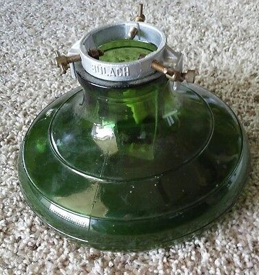 Perfect 1930-40 GLASS Aluminum CHRISTMAS TREE STAND Bulach Switzerland Green