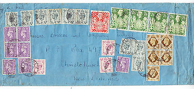 Large 1947 Great Britain King George VI KGVI KG6 cover displaying stamps to 5/-