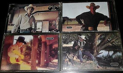 GEORGE STRAIT 4xCASSETTE TAPES Straight Out Of The Box COUNTRY ROCK Compilations