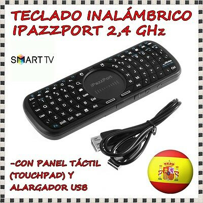 TECLADO INALAMBRICO PANEL TACTIL RATON iPAZZPORT 2.4GHz KEYBOARD SMART TV PC 3