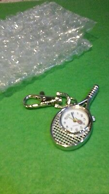 NEW Bargain Tennis Racquet WATCH Keyring