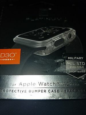 Platinum - D3o Protective Bumper Case For Apple Watch™ 42mm - Space Grey