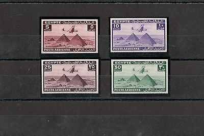 Egypt 1943 Airmail Set - Cancelled Back (X-Back) Royal Collection MNH