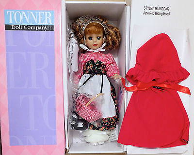 TONNER Doll CLUB Exclusive JANE RED RIDING HOOD-NEW in SHIPPER-bendy leg