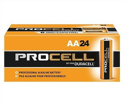 Duracell PC1500 Battery; Alkaline; ProCell; Size AA; 1.5V; 2100 MAh (24 pack)