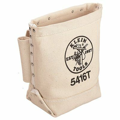 Klein Tools 5416T Bull-Pin and Bolt Bag, Canvas with Tunnel Loop