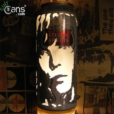 Ian Brown Beer Can Lantern! The Stone Roses Madchester Pop Art Portrait Lamp