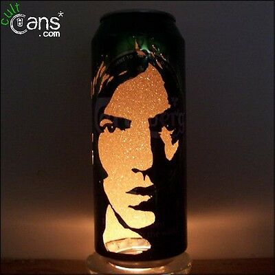 Richard Ashcroft Beer Can Lantern! The Verve Pop Art Portrait Candle Lamp