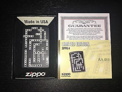 Zippo Crosswords - Rare Limited Edition For Portugal