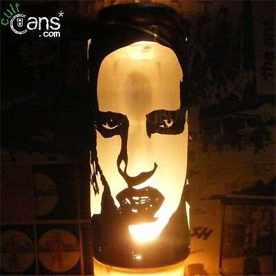 Marilyn Manson Beer Can Lantern! Industrial Goth Metal Pop Art Lamp